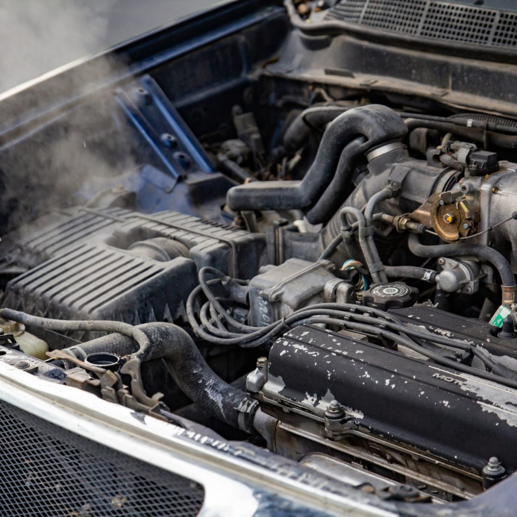 car overheated from bad water pump