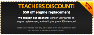 Teachers Discount